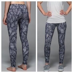 LULULEMON Wunder Under Pants Banana Leaf {M40} for sale
